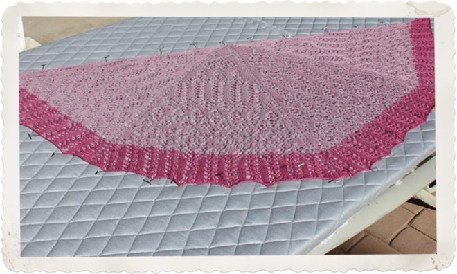 Blocking the Mystery Shawl