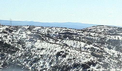 Snow in the Cuyamaca Mountains, San Diego County