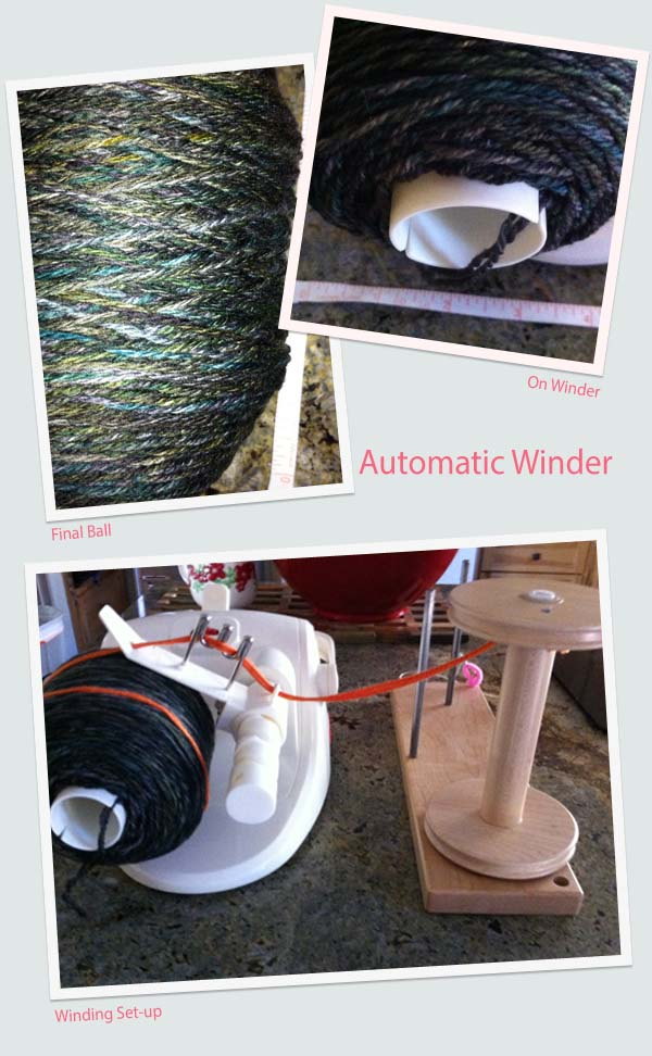 Winding straight from the bobbin.