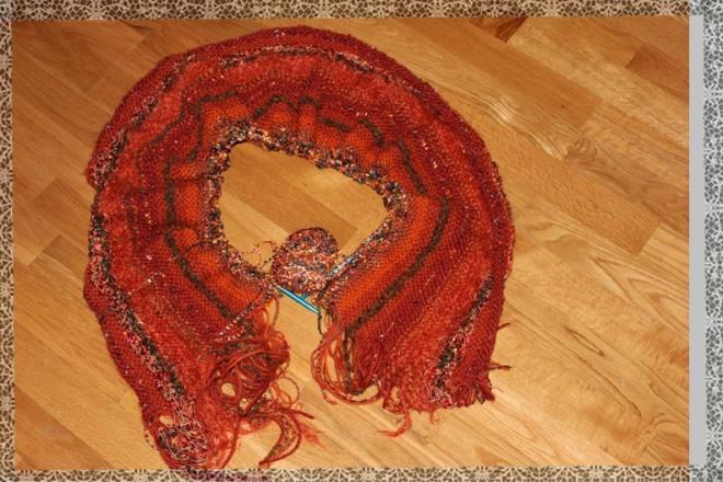 Curl's Orange Shawl