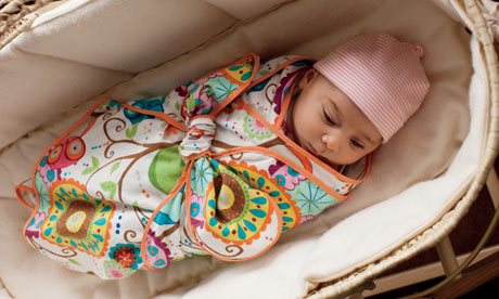 theguardian: How to make a swaddle blanket