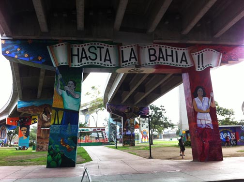 Barrio Logan - Wonderful paintings on the bridge pillars.