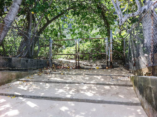Gate from beach to Robin's Nest
