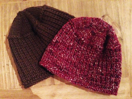 Canadian Winter Hat from Sally Melville's Book 2: The Purl Stitch