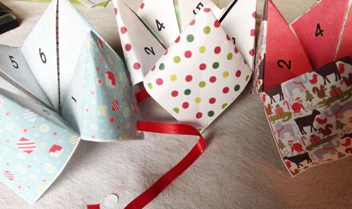 Cootie Catcher Gift Tags