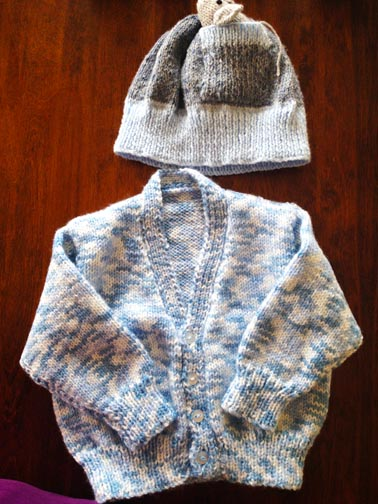 Sweater (Jumper) by Joycie,  Hat by Mary