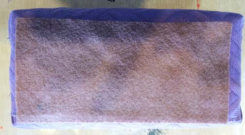 Glue felt to bottom
