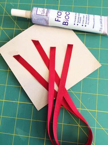 Fray Block the ribbons