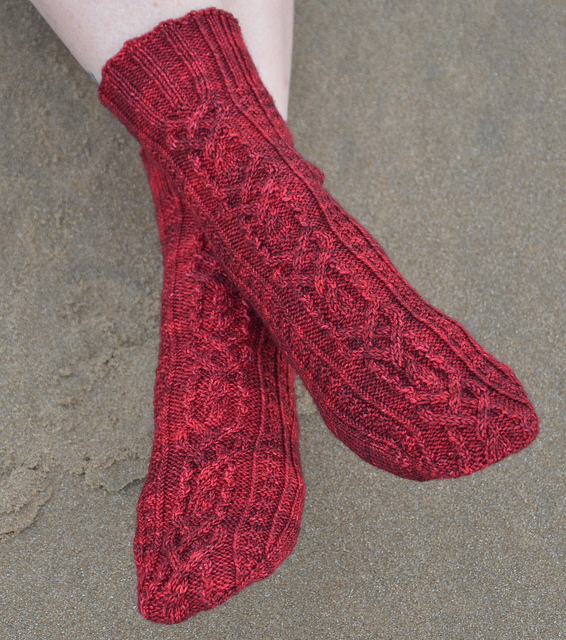 Mandy's Heart Socks by Alexandra Richards
