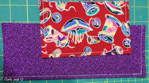 Sew the flap and pocket pieces