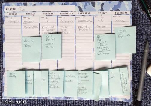 Blog Planning Chart