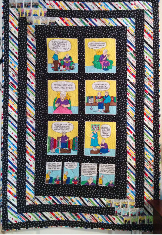 Laura from SewVeryEasy blog's panel quilt