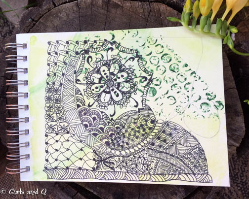 Zentangle on Sketch Book